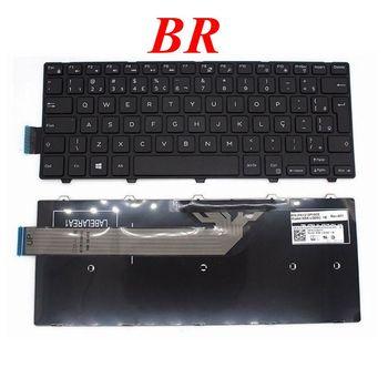 GZEELE New Brazil BR Laptop Keyboard for DELL Inspiron 14-3000 3441 3442 3443 3451 3452 3458 3459 5447 PK1313P1A32 NSK-LQ0SC