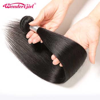 Wonder girl Brazilian Hair Weave Bundles 100% Remy Hair Extension Brazilian Straight Human Hair Bundles Can Buy 3 or 4 Bundles - DISCOUNT ITEM  47% OFF All Category