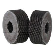 2 шт 19x8 мм инструмент для накатки колеса грубая Диагональ саржевого рисунка 0,6 мм шаг ролика