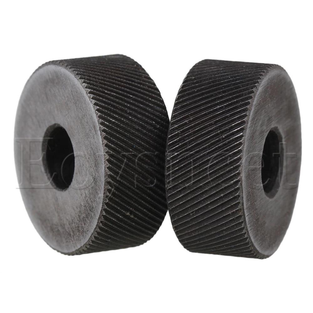 2PCS 19 X 8mm Knurl Wheel Tool Diagonal Coarse Twill Pattern 0.6mm Pitch Roller