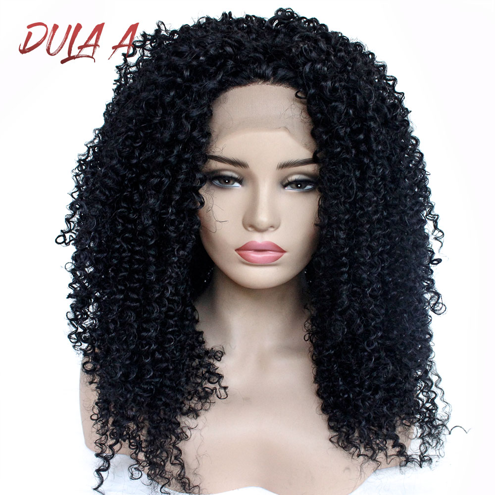 24inch Kinky Curly Wig Synthetic Lace Front Wig For Black Women Heat Resistant Synthetic Hair Wigs