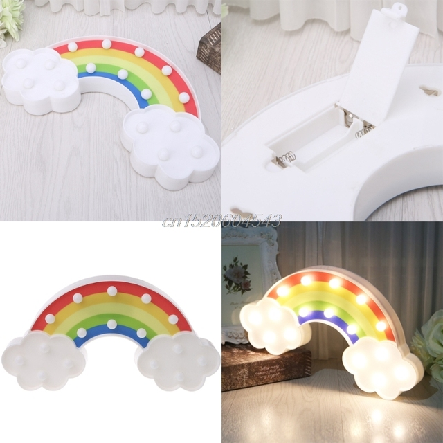 3D Rainbow modelling LED Night Light Decorative Bedroom Lamp Battery Operated R07 Drop ship 3