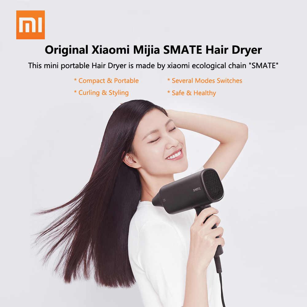 Xiaomi Mijia Smate Pengering Rambut Perjalanan Rumah Tangga Pengering Rambut Alat Penata Rambut Dryer Panas dan Dingin 220 V 1600 W Blower US Plug