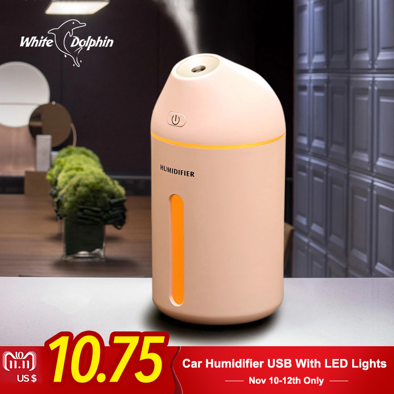 Ultrasonic Aromatherapy Essential Oil Aroma Diffuser Cool Mist Humidifier Car With LED Lights Air Humidifier USB 550ml air humidifier aromatherapy cool mist coolair essential oil diffuser led lights for home aroma ultrasonic humidifier