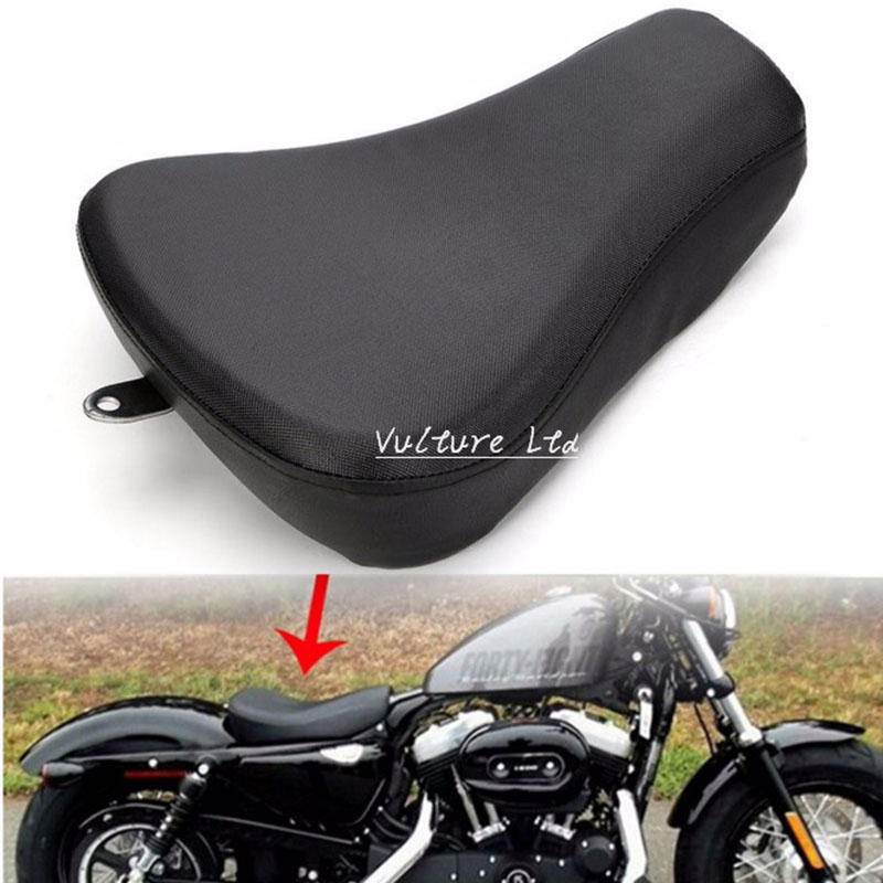 Motorcycle Driver Front Leather Pillow solo Seat Cushion For Harley Sportster Forty Eight XL1200 883 72 48 New