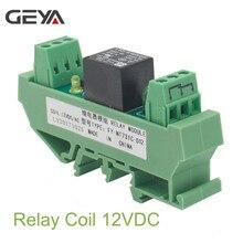 GEYA 1 Channel Relay Module AC/DC 24V 12V 230VAC Din Rail Mounted GSM Relay Control Timer Module idc 50 din rail mounted interface module