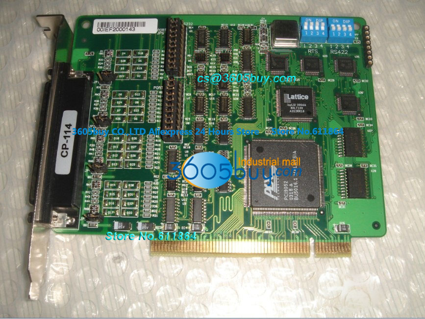 High quality CP-114 100% tested perfect quality 4 Indu strial Type RS-422/485 PCI Multi Serial Board