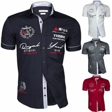 Zogaa 2019 Summer Men Casual Shirts Slim