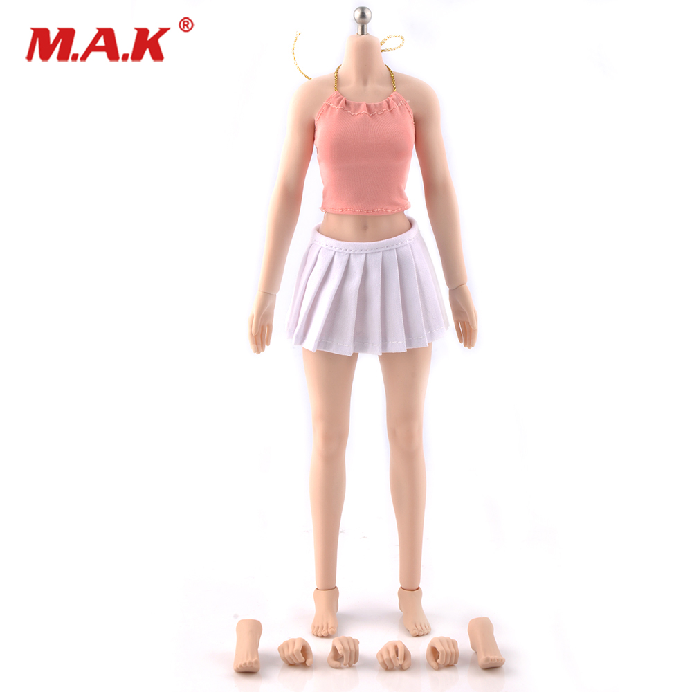 1/6 Scale Female Body Figure Narrow Shoulder Super Flexible Seamless Body White Color Medium Breast DIY Doll Toys 1 6 scale super flexible figure sexy female cowboy lauren j begins 12 action figure doll collectible model plastic toy