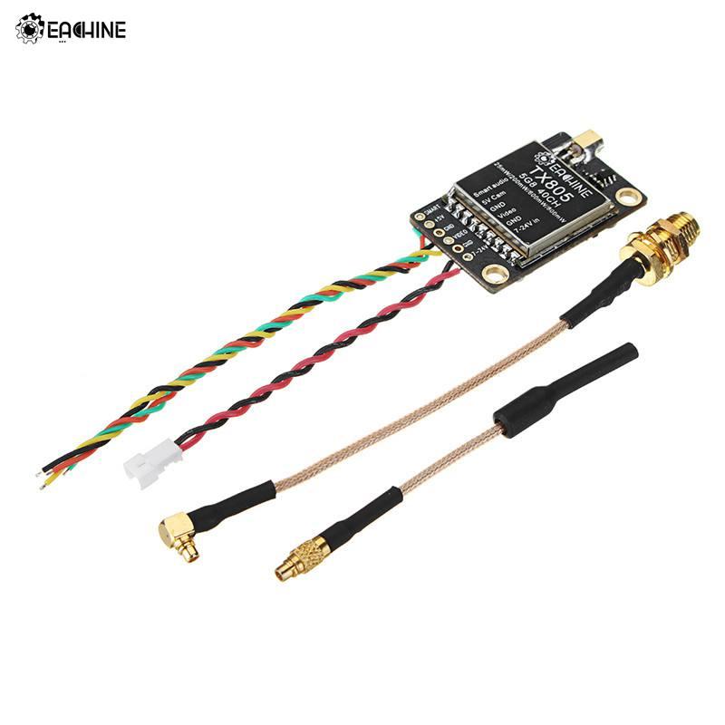 Eachine TX805 5,8G 40CH 25/200/600/800 mW FPV transmisor VTX LED pantalla OSD /Pitmode/Smartaudio