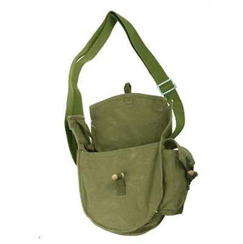 Surplus Chinese Drum Haversack Magazine Pouch Messenger Bag Army Green-CN018