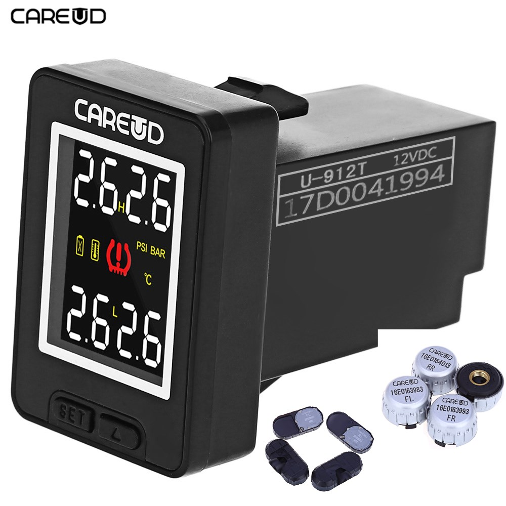 Original Careud U912 Wireless TPMS Tire Pressure Monitoring System with CR2450 3.7V Cell 4 Internal/Extenal Sensors For ToyotaOriginal Careud U912 Wireless TPMS Tire Pressure Monitoring System with CR2450 3.7V Cell 4 Internal/Extenal Sensors For Toyota