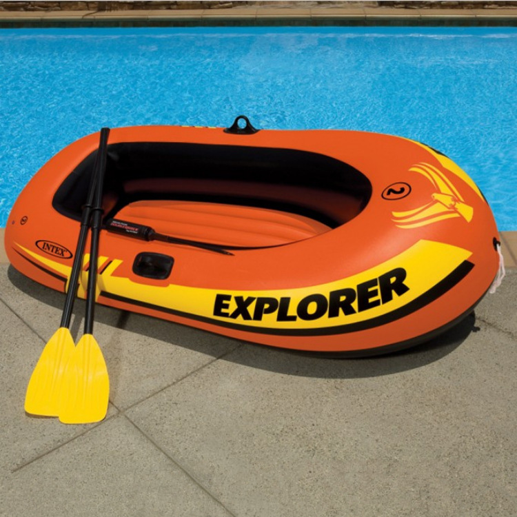 Explorer Two Seats Inflatable Boat Group Swimming Drifting Boat on Water Inflatable Pool Water Fun Rafts Inflatable Ride ons