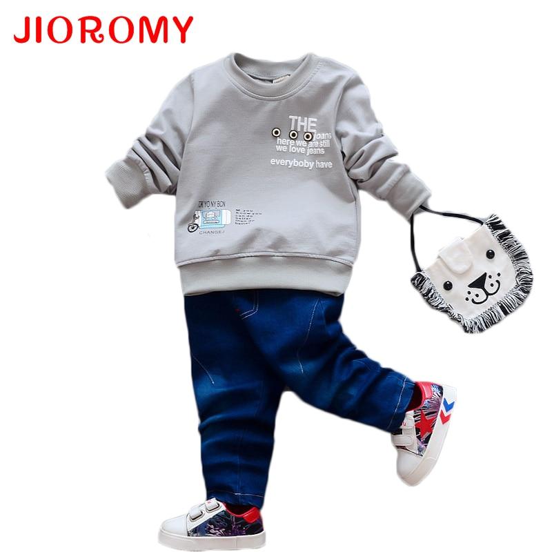 JIOROMY Seturi de copii pentru primavara si toamna anului 2019 Tricou - Haine copii
