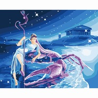 Cancer Frameless Pictures Painting By Numbers DIY Digital Oil Painting On Canvas Home Decoration 40x50cm Cartoon