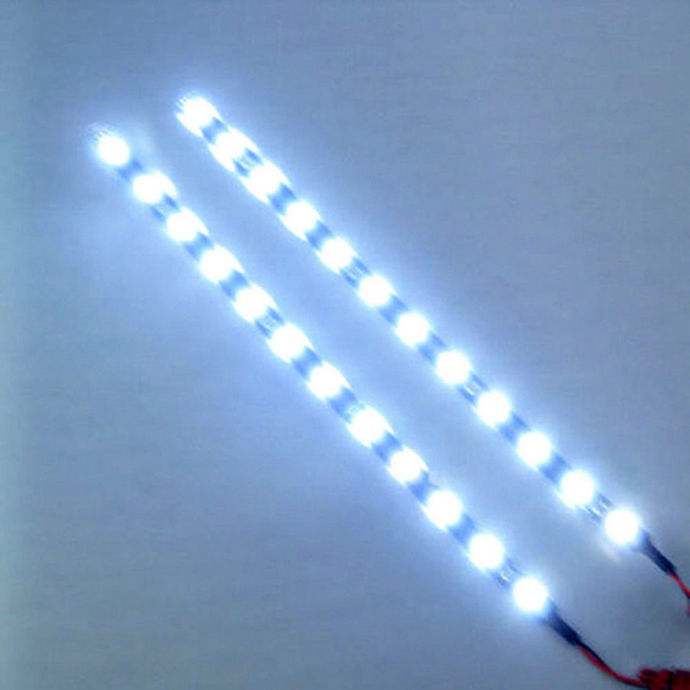 30cm 12V 15 LED Car Auto Motorcycle Waterproof Strip Lamp Flexible Light Perfect For Decoration Motorcycle Accessories