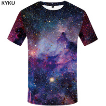 KYKU Brand galaxy T shirt Space T-shirts funny 3d t-shirt 2017 hip hop mens clothing china galaxy shirts chinese printed tee				(China)
