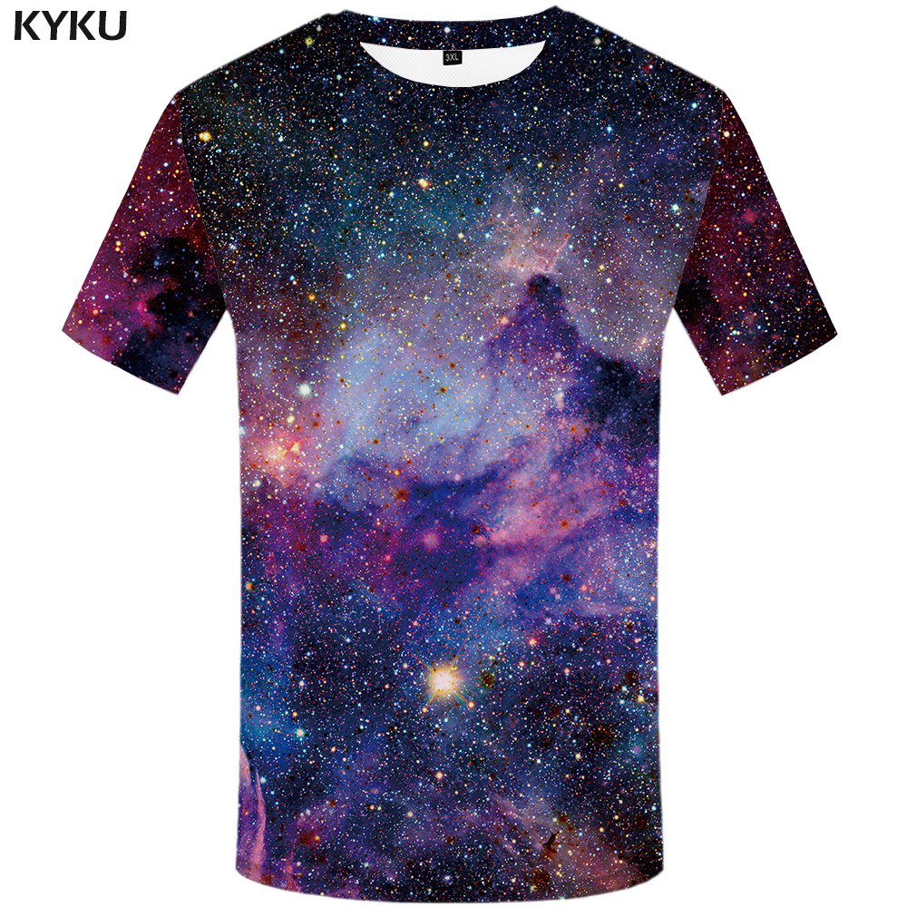 KYKU Brand galaxy   T     shirt   Space   T  -  shirts   funny 3d   t  -  shirt   2017 hip hop mens clothing china galaxy   shirts   chinese printed tee