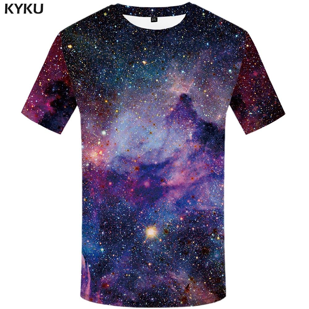 KYKU marca galaxy T camisa espacio camisetas divertido 3d 2017 camiseta hip hop ropa china galaxy camisas chino impreso tee