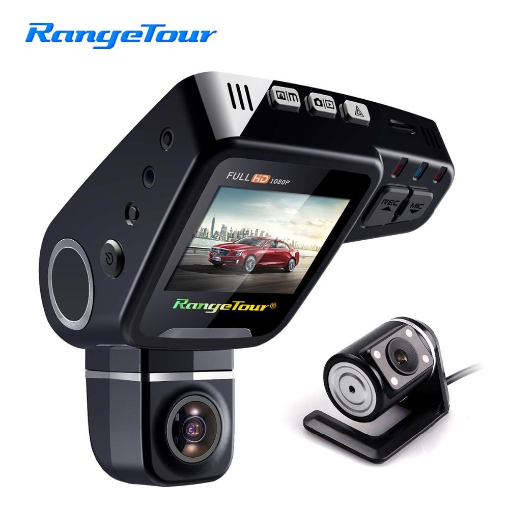 Range Tour C10s Plus Mini Car DVR 360 Degree Rotated Dash Cam Dual lens Front 1080P