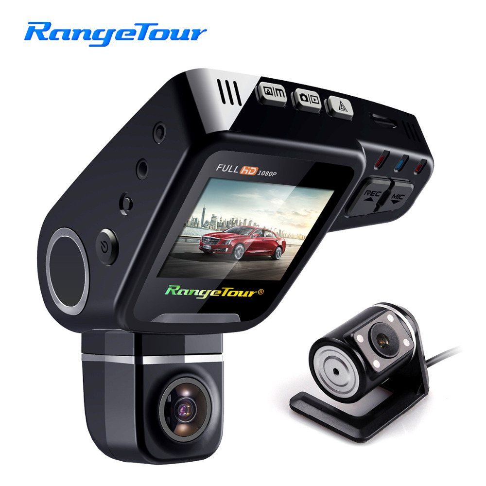 Range Tour C10s Plus Mini Car DVR 360 Degree Rotated Dash Cam Dual lens Front 1080P Rear 480P Video Recroder 2 Screen Display
