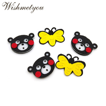 WISHMETYOU 10pcs Cartoon Bears Bees Free Cutting Felts For Kids Diy Home Decor Room Kindergarten Crafts Accessories Findings New