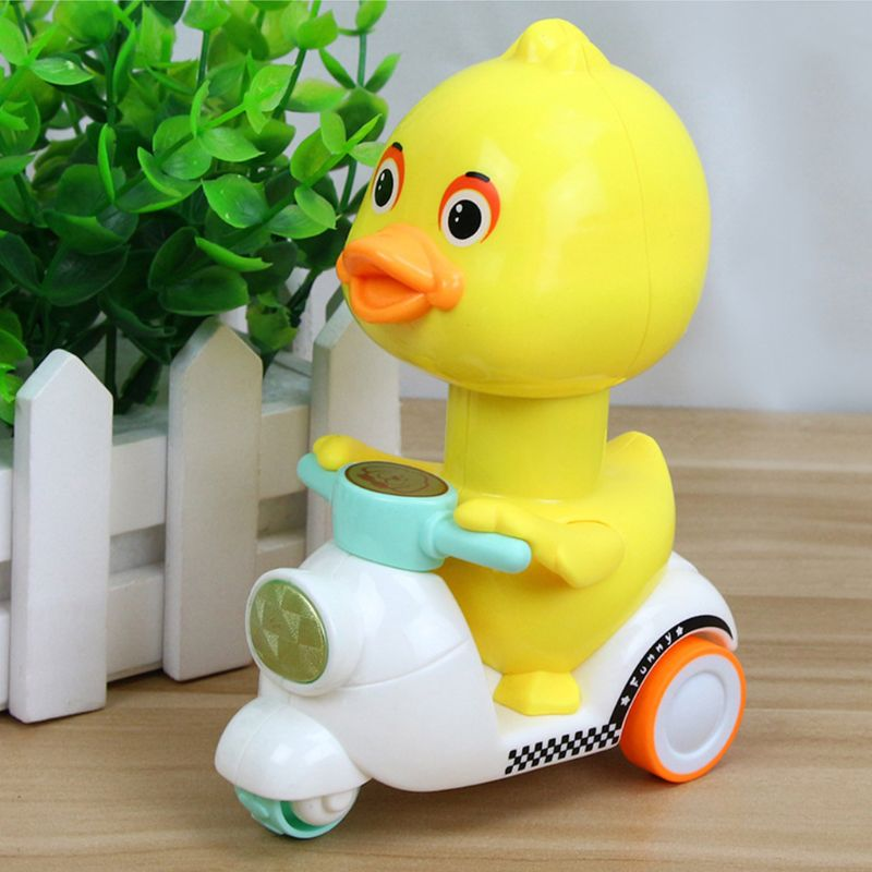 Boys Girls Cartoon Toy Push Type Small Yellow Duck Cute Tricycle Children Toys Kids Prize Gifts