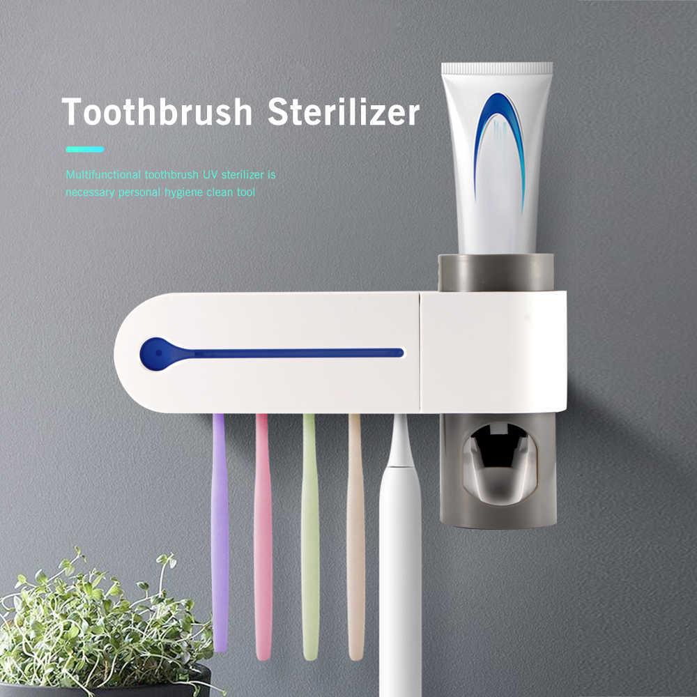 Антибактериальный ультрафиолетовый свет зубная щетка стерилизатор Автоматическая зубная паста диспенсер зубная щетка держатель аксессуары для ванной комнаты