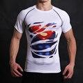 Batman VS Superman T Camiseta 3D Impresso T-shirt Dos Homens Curta manga Raglan Aptidão Traje Cosplay Filme DC Slim Fit Tops Masculino