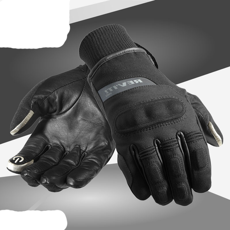 2017 REV'IT! CARVER H2O Motorcycle gloves windproof Revit motorbike gloves made of leather and textile size M L XL