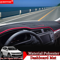 QCBXYYXH Car Styling Car Dashboard Avoid Light Pad Polyester Instrument Platform Cover Protective Mats For VW