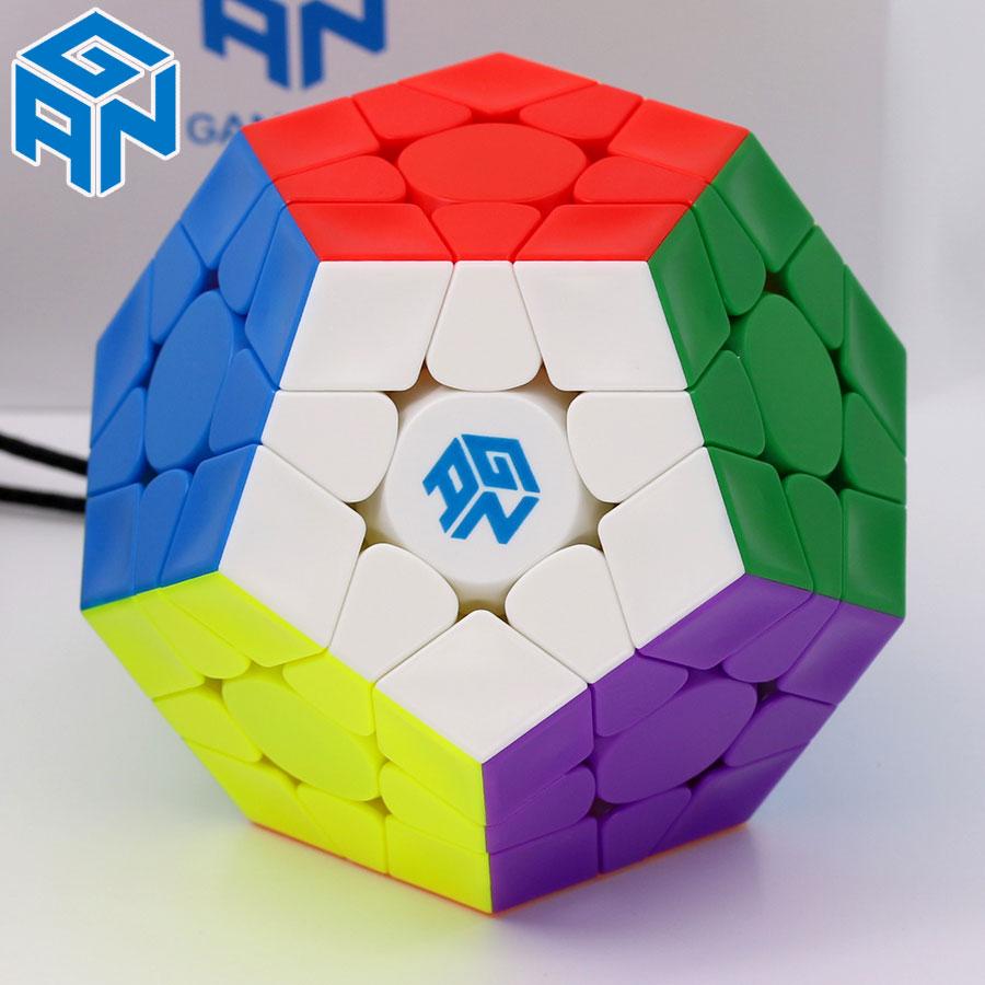 Cube magique puzzle GAN mega M megaminxeds magnétique gancube 12 faces cube dodecahedron professionnel megamin x vitesse cube jouets - 3