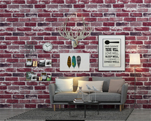 beibehang Retro nostalgic Chinese restaurant stereo brick papel de parede wallpaper barber clothing store bar wall paper behang 4 colors modern fashion wood pvc wateroof wallpaper papel de parede clothing store milk tea coffee bar derector wall paper roll