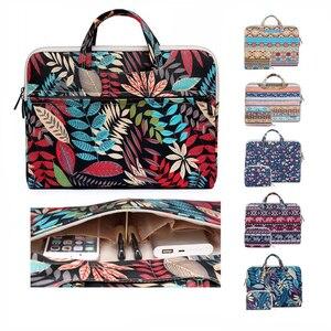 Image 1 - Сумка для ноутбука 13 14 15,6 дюйма, сумка для ноутбука Macbook Air Pro 15,4, сумка на плечо для ноутбука с цветочным рисунком, Портативная сумка для ноутбука Xiaomi