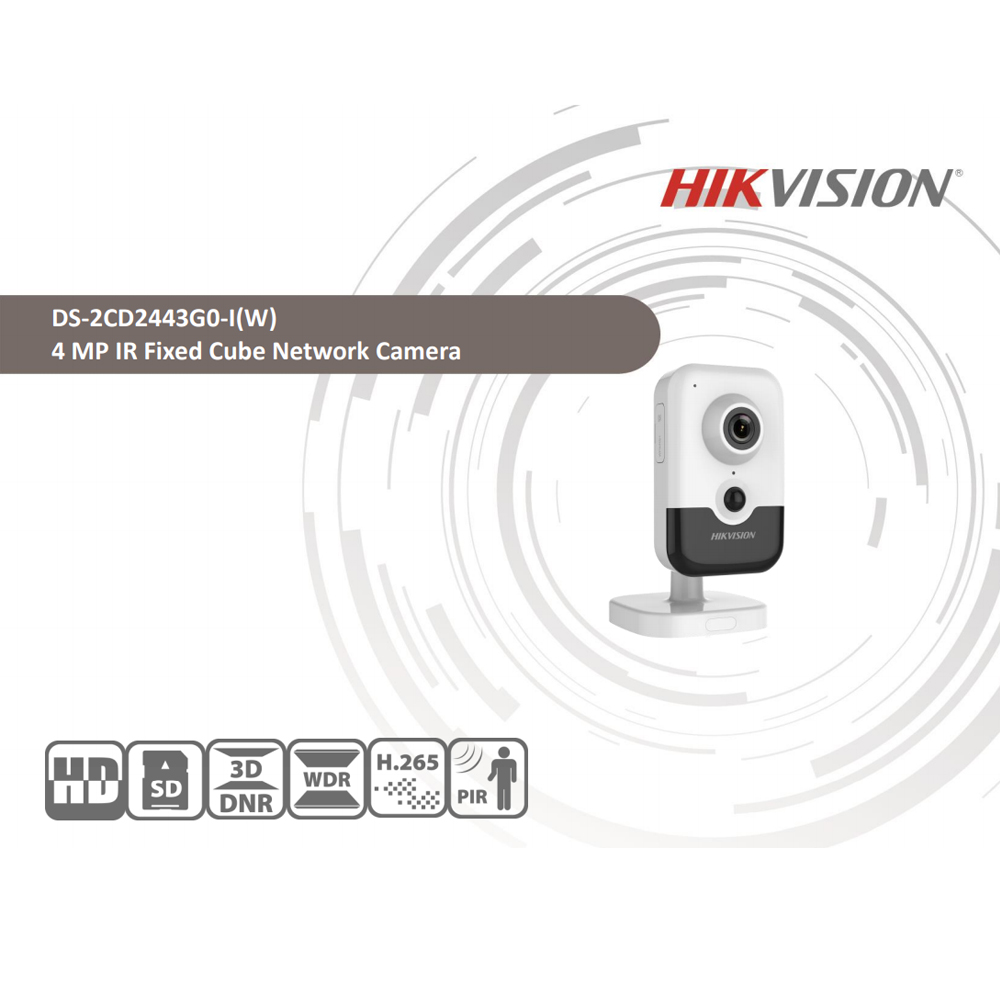 Image 2 - Hikvision DS 2CD2443G0 IW Wi Fi Camera Video Surveillance 4MP IR Fixed Cube Wireless IP Camera Two way Audio H.265+-in Surveillance Cameras from Security & Protection