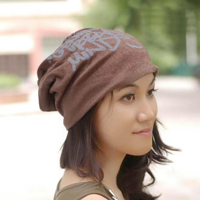 97199499c15 placeholder New Punk Women Men Winter Hat beanies bonnet femme Slouch Baggy  Graffiti letters Hip Hop cloth