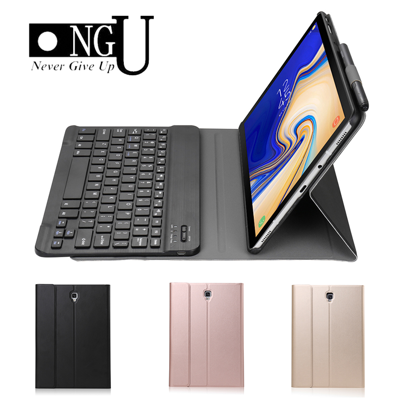 Luxury Slim Case for Samsung Galaxy Tab A A2 10 5 2018 T590 T595 SM T590 Cover Funda Detachable Bluetooth Keyboard Leather Stand in Tablets e Books Case from Computer Office
