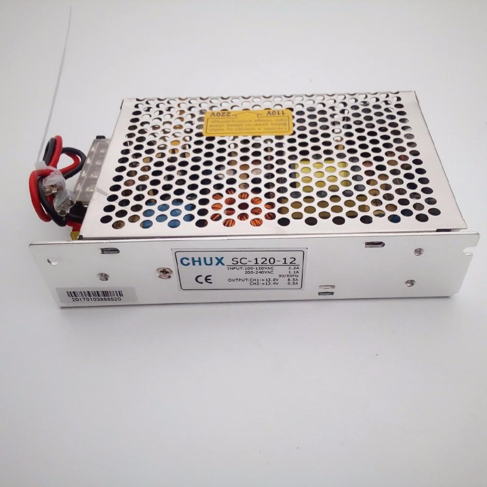 12V Switching Power Supply Universal AC <font><b>UPS</b></font> Charge Type Switching Power Supply 12V 120w (SC120W-12) free shipping