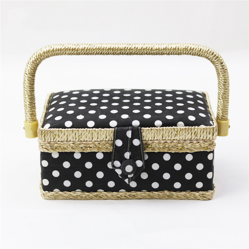 Handmade Cotton Fabric Storage Sewing Basket Sewing Thread Scissors Tools Accessory Craft Tools Storage Box For Women Wife Gift  (2)