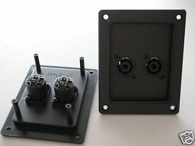 speaker cabinet box audio cable connector plate patch front or rear panel m in connectors from. Black Bedroom Furniture Sets. Home Design Ideas