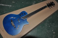 free shipping OEM High Quality T5 electric guitar New Arrival semi hollow guitar blue color T5 jazz Guitar