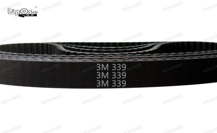 10pcs 339 HTD3M timing belt length 339mm 113 teeth width 6/9/10/15/18 mm closed-loop belt 339-3M S3M 3M pulley for CNC machine 15mm width t5 steel core endless timing belt closed loop pu belt