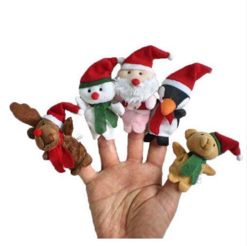 Baby Favor Dolls Plush-Toys Finger-Puppets Christmas Friends Girls Santa-Claus Boys Child