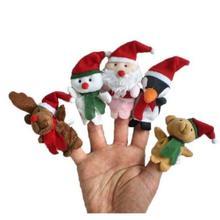 5 шт./компл. Рождественский Санта Клаус друзей палец мягкие игрушки для детей Детский благосклонность куклы с рисунком «камень-ножницы-бумага марионетки