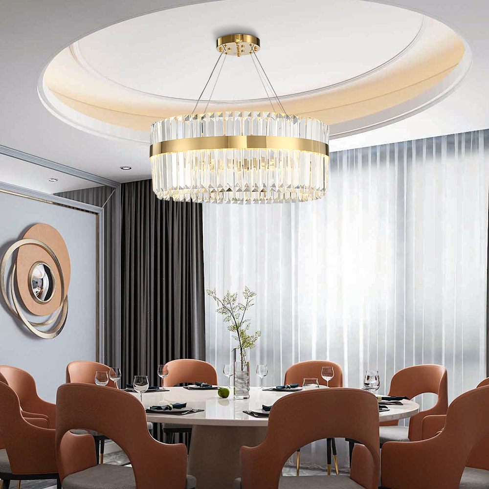 Contemporary Luxury Gold Crystal Chandelier Lighting For Living Dining Room LED Chandeliers 1