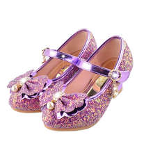 2018 new Korean children shoes baby girls princess shoes spring and autumn  shoes high heels crystal 2cfa9d4c7456
