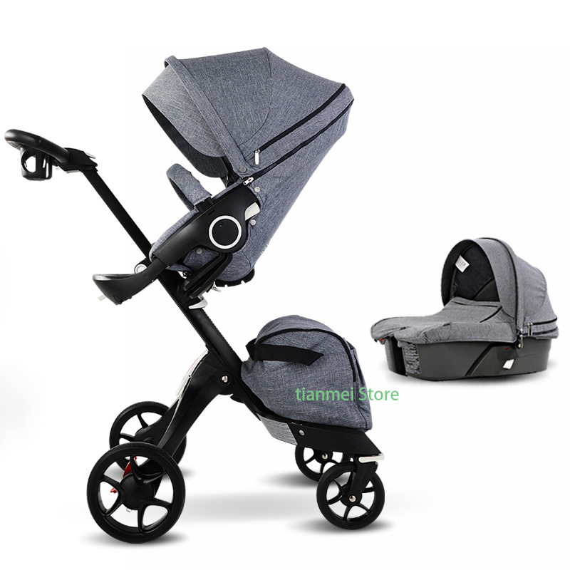 217bbd91dff0 INBB High landscape 2 in one baby stroller Two-way reclining folding light  umbrella four wheels high quality