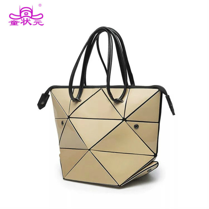 Tzy Changeable Rubik S Cube Folding Bag High Quality Las Handbags Female Laser Geometric Women Tote Hand Shoulder In Bags From