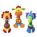 0 м + мягкая детские Teether мобильного игрушка для детской кроватки мультфильм животных кукла раннего образования развития рука