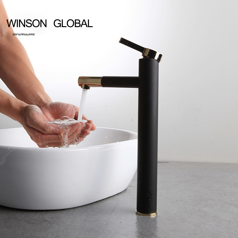 torneira copper paint bathroom faucet fixture single hole faucets banheiro hot wash tap basin splash basin faucet ICD60067 copper infrared intelligent automatic induction type single tap faucet wash